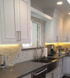 Mosaic Glass Backsplash Kitchen Tiletuesday Features An Installation Out Of Our