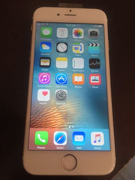 Iphone 6 Gold 64gb Fullset 1 second apple iphone 6 64gb gold secondhand my