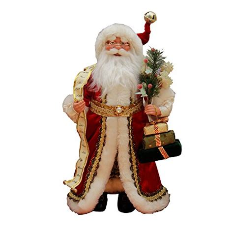 16 inch standing red santa claus christmas figure figurine