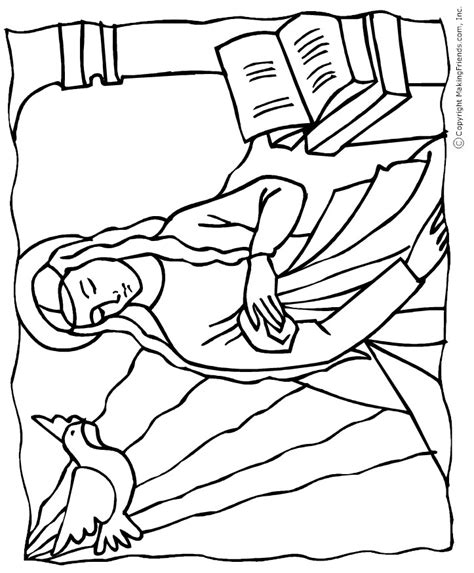 coloring page mary angel bible coloring pages