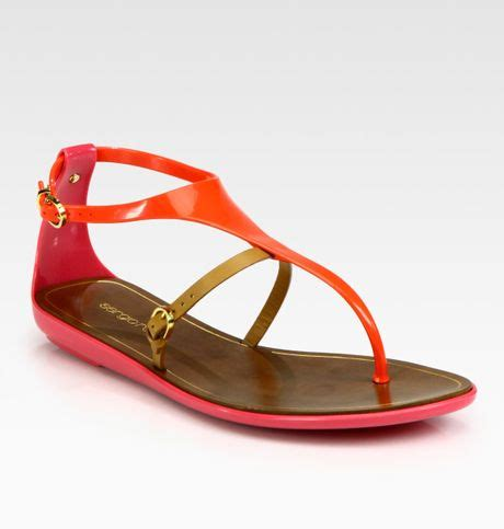 coral colored sandals sergio colorblock faux patent leather leather