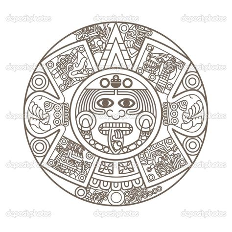 aztec calendar coloring page books worth reading