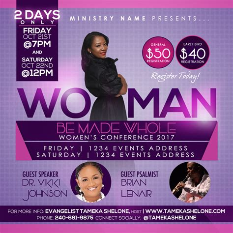 Women S Conference Flyer Design Raiona Denise Bringing Vision To Life Conference Flyer Template
