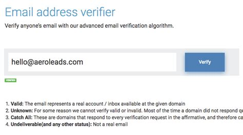 Email Address Free Free Email Verification Tool Aeroleads