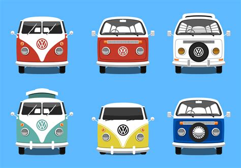volkswagen bus art vw bus free vector art 711 free downloads