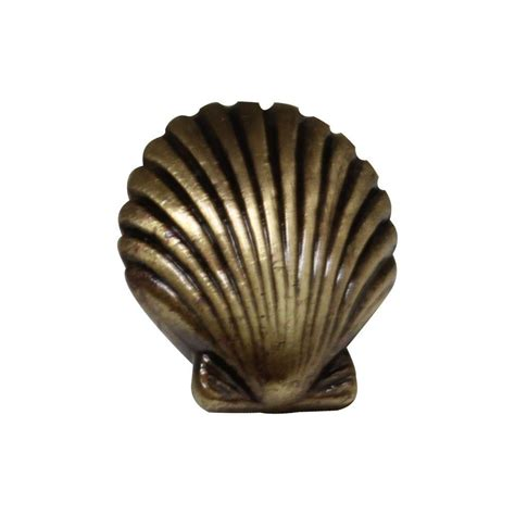 Seashell Cabinet Knobs amerock 1 3 8 in antique rust cabinet knob bp1586art the home depot