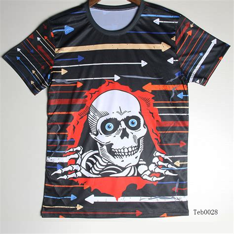 design t shirt pattern top cool skull t shirt for men short sleeve fashion unique