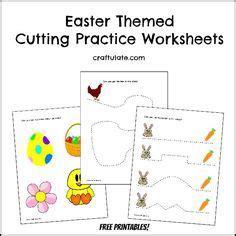 spring themed work events free farm cutting practice worksheets kid blogger