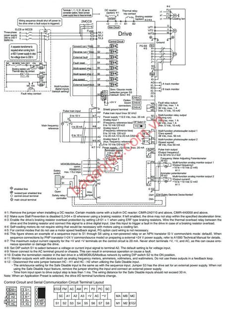 yaskawa a1000 wiring diagram wiring diagrams wiring diagrams