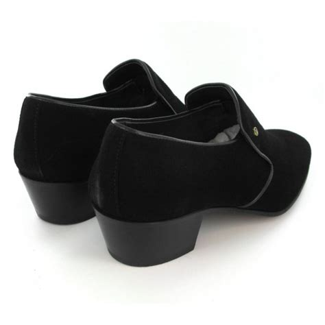 mens made cuban heel shoes black suede