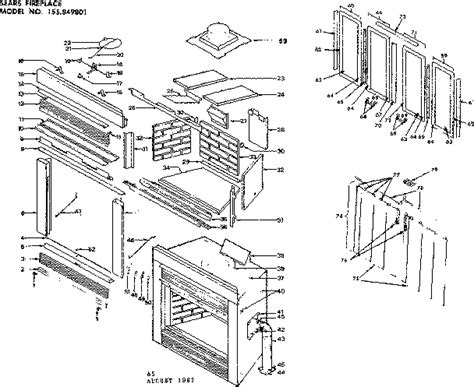 preway sears prefabricated built in fireplace w parts