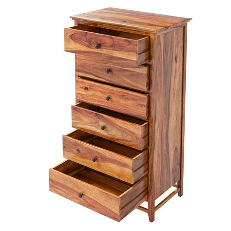 Solid Wood Bedroom Dressers | mission modern solid wood 6 drawer bedroom tall dresser