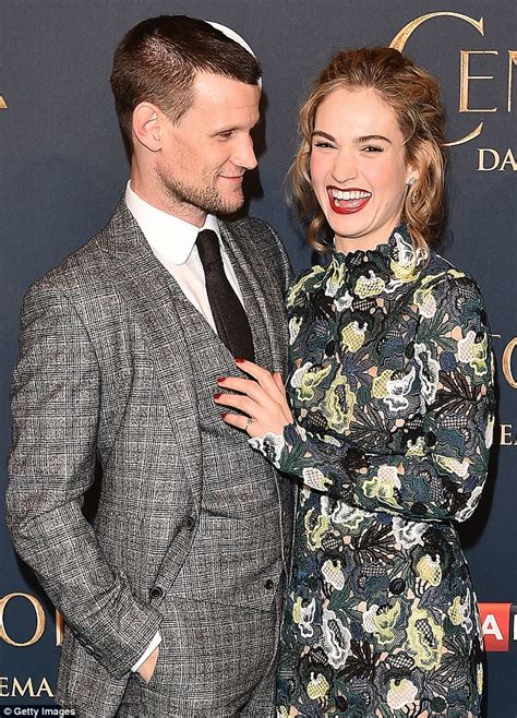 Big Boy Bed Matt Smith Locks Lips With Lily James In London Daily