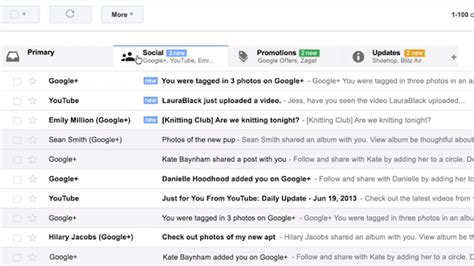 Authors In Your Inbox by Pop Open New Gmail Inbox Tabs