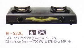 Kompor Gas Rinnai Ri 602a harga elektronik dafatr harga kompor gas rinnai