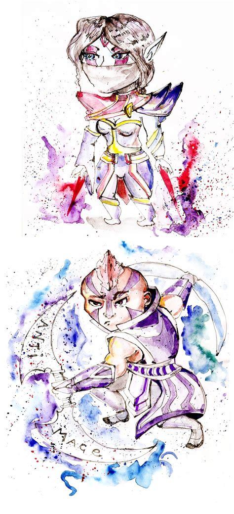 Chibi Dota 15 anti mage and templar assassin chibi dota 2 by