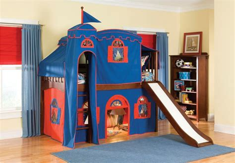 Bunk Bed Tents For Boys Loft Bed With Slide And Tent Home Design Ideas Boys Bunk Beds With Slide Latitudebrowser 11841