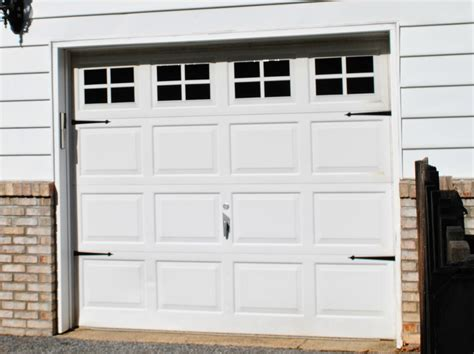 Garage Door Makeover Two It Yourself Diy Faux Carriage Garage Door Makeover