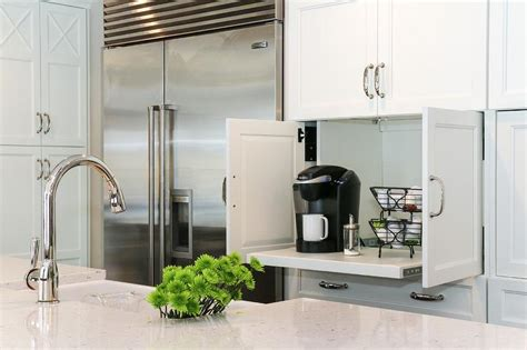 Miele Kitchen Cabinets by Hidden Coffee Station Design Ideas