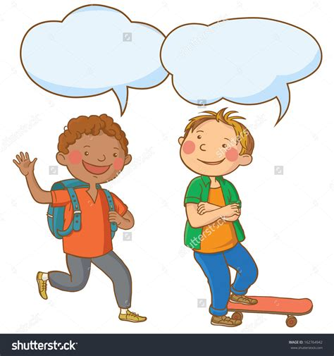 free childrens clipart child clipart talking together pencil and in color child
