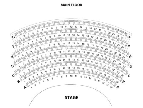 detailed chicago theatre seating chart  seat numbers