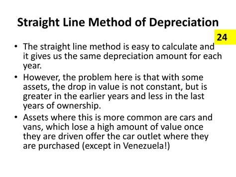 depreciation line ppt sources of finance powerpoint presentation id 261144