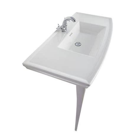 sorento 1 tap white ceramic console basin