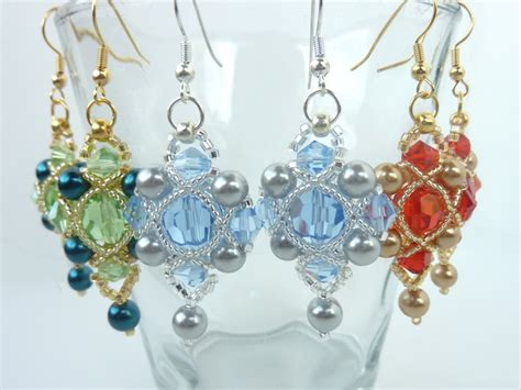 beaded earring designs beading patterns for earrings beading pattern tutorial
