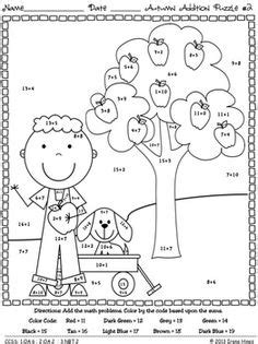 autumn math coloring pages addition color by number spring math worksheets 2nd