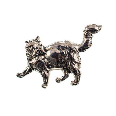 Metal Brooch antiques atlas vintage silver metal cat brooch pin