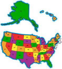 state abbreviations map 50 states and their abbreviations