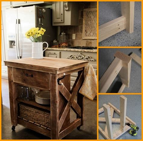 diy kitchen island ideas diy rustic kitchen island our daily ideas