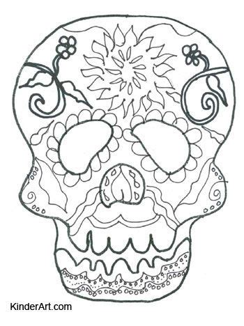 halloween coloring pages day of the dead day of the dead calavera skull mask free halloween