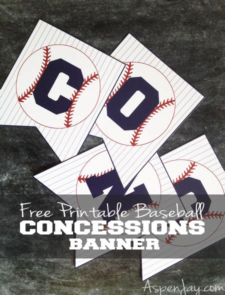 printable concessions banner free baseball concessions banner aspen jay