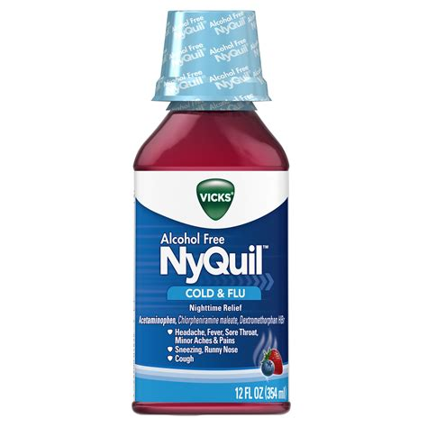 Nyquil Cold Flu Nighttime Relief Liquid vicks dayquil cold flu relief liquid 8 fl oz