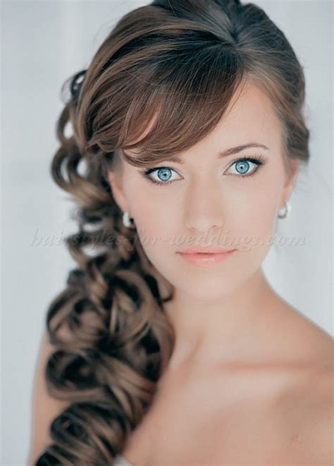 Curly Hairstyles To The Side For Wedding by Wedding Side Hairstyles For Hair