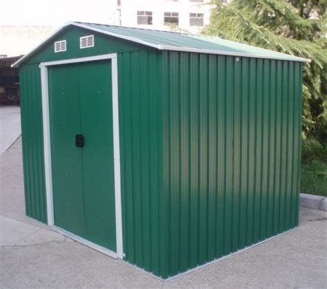 Metal Sheds 6x4 by Diy Apex Metal Shed Steel Pent Garden Sheds Carport