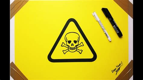 How To Draw A Toxic Sign toxic symbol drawing skull dangerous