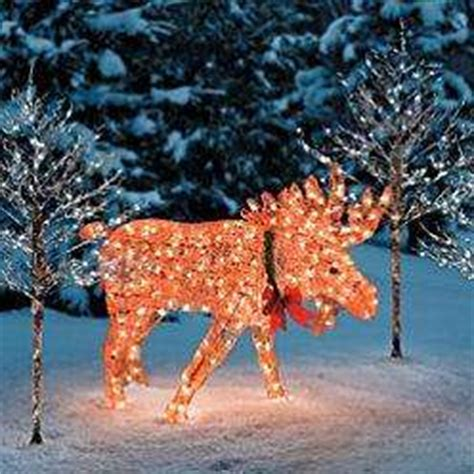 moose 60 inch lighted outdoor display 3pc outdoor lighted moose family yard display