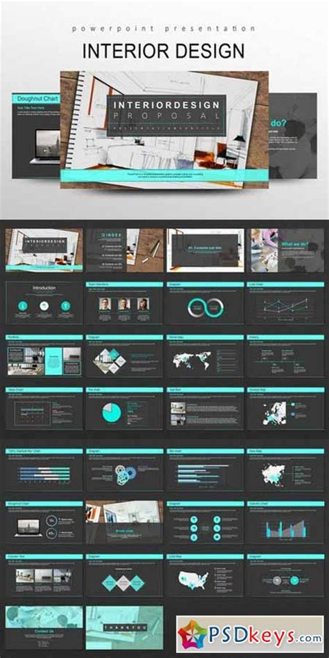 design powerpoint slides in photoshop interior design powerpoint templates 510930 187 free