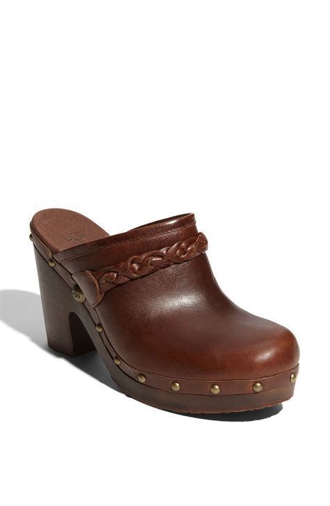 ugg clogs for ugg clogs in brown chocolate lyst