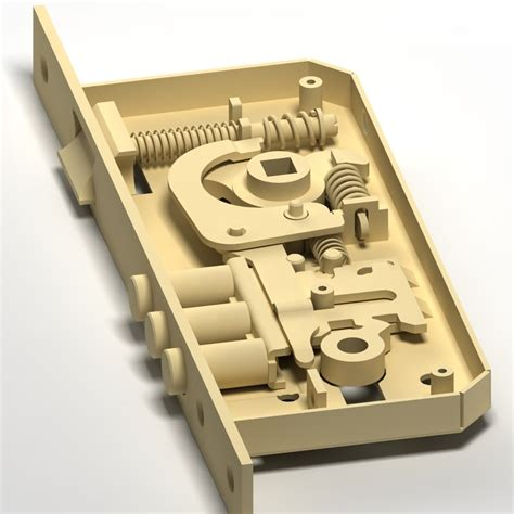 locking mechanism 3dsmax lock mechanism doors