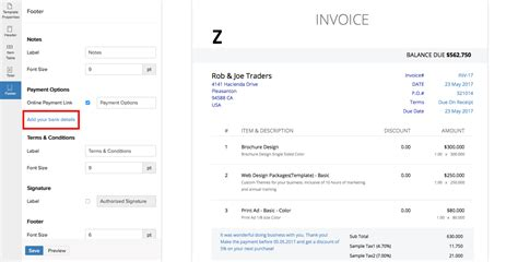 Invoice Template Bank Details Hardhost Info Bank Invoice Template