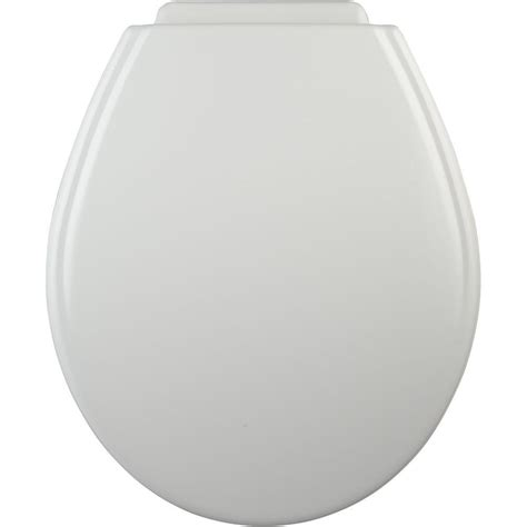 bemis bathroom products bemis xcite round closed front toilet seat in white 547xc