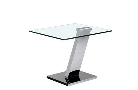 bouts de canap駸 design bout de canap 233 en verre et pied design crozatier