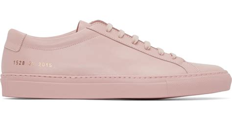 by common projects sneakers lyst common projects pink original achilles sneakers in