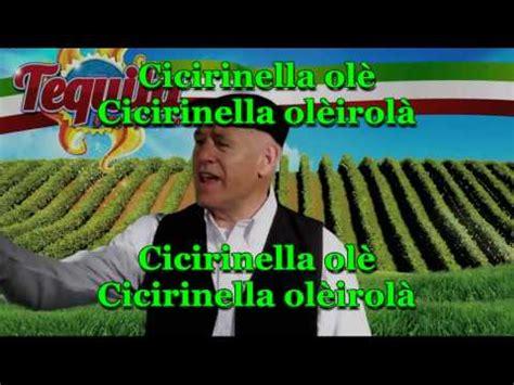 trapanarella testo cicirinella teneva teneva videoclip ufficiale tequila