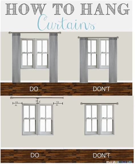 curtain hanging guide thursday s tips tricks how to hang curtains remember