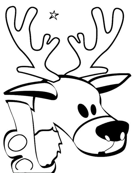 cartoon deer coloring pages cartoon deer head coloring pages animal coloring