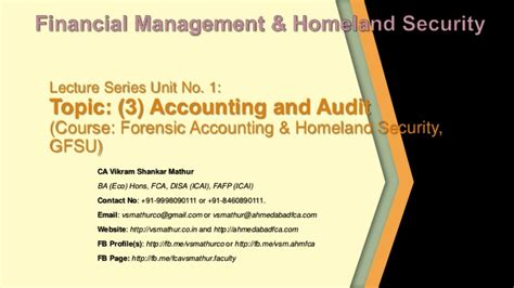 Mba In Forensic Accounting by Unit 1 3 Analysis Of Financial Statements Accounts And